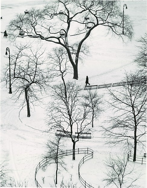 Washington Square, Winter, André Kertész (American (born Hungary), Budapest 1894–1985 New York), Gelatin silver print