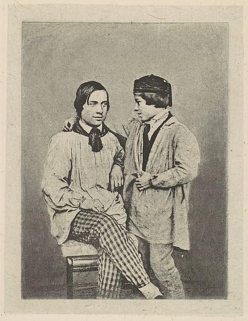 [Man and Boy], Armand-Hippolyte-Louis Fizeau (French, 1819–1896), Photogravure
