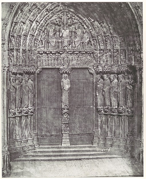 [Chartres Cathedral, Central Portal of the South Transept; The Last Judgment], Charles Nègre (French, 1820–1880), Photogravure