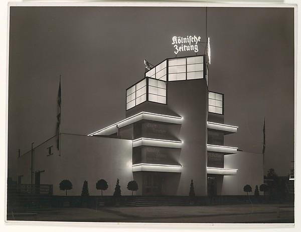 Ausstellungs-Gebäude der Kölnische Zeitung auf der Internationalen Presse-Ausstellung Köln, Werner Mantz (German, Cologne 1901–1983 Eijsden), Gelatin silver print