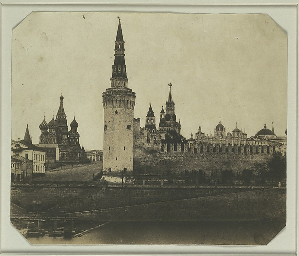 South Front of the Kremlin from the Old Bridge, Roger Fenton (British, 1819–1869), Salted paper print from paper negative