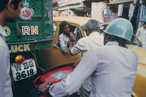 A Taxi Driver, Calcutta, West Bengal, Raghubir Singh (Indian, 1942–1999), Chromogenic print