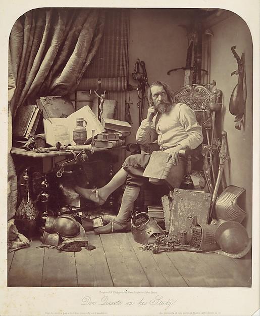 Don Quixote in His Study, William Frederick Lake Price (British, London 1810–1896 Lee, Kent), Albumen silver print from glass negative