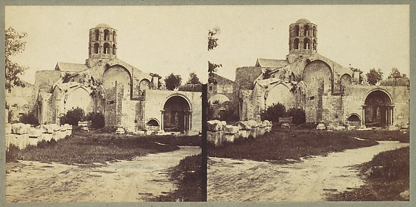 [Church of Saint-Honorat, Arles], Édouard Baldus (French, born Prussia, 1813–1889), Albumen silver print from glass negative