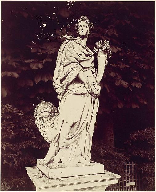 Versailles, La Terre par Massou, Eugène Atget (French, Libourne 1857–1927 Paris), Albumen silver print from glass negative