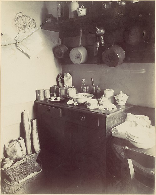 Cuisine, Eugène Atget (French, Libourne 1857–1927 Paris), Albumen silver print from glass negative