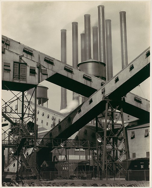 Criss-Crossed Conveyors, River Rouge Plant, Ford Motor Company, Charles Sheeler (American, Philadelphia, Pennsylvania 1883–1965 Dobbs Ferry, New York), Gelatin silver print