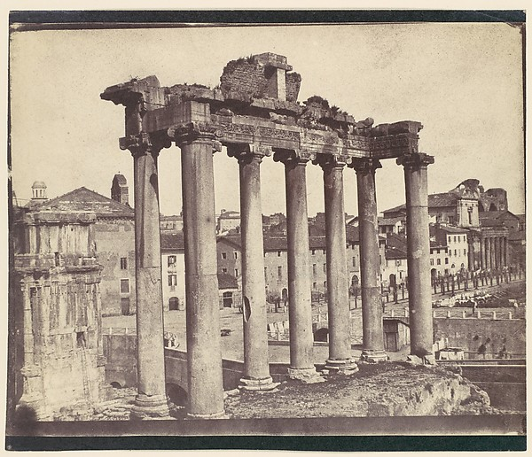 [Temple of Concord, Rome], Attributed to Calvert Richard Jones (British, Swansea, Wales 1802–1877 Bath, England), Salted paper print from paper negative