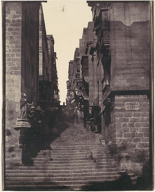 [Strada Levante, Valletta, Malta], Attributed to Calvert Richard Jones (British, Swansea, Wales 1802–1877 Bath, England), Salted paper print from paper negative
