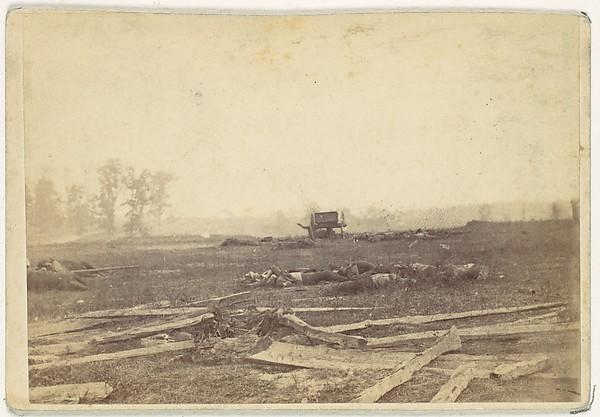 View on the Battlefield of Antietam, September 1862, Alexander Gardner (American, Glasgow, Scotland 1821–1882 Washington, D.C.), Albumen silver print from glass negative