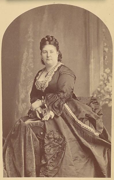 [The British Soprano Euphrosyne Parepa-Rosa (1836-1874)], Jeremiah Gurney (American, 1812–1895 Coxsackie, New York), Albumen silver print from glass negative