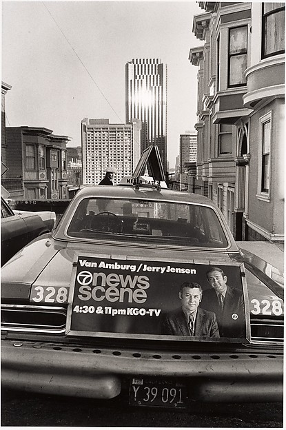 Taxi and Landscape - San Francisco, Elaine Mayes (American, born 1938), Gelatin silver print