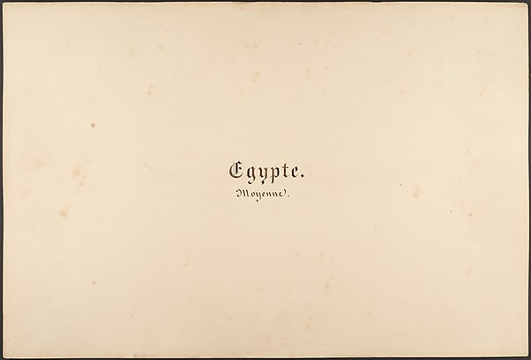 Égypte, Nubie, Syrie: Paysages et Monuments, Maxime Du Camp (French, 1822–1894), Salted paper prints from paper negatives