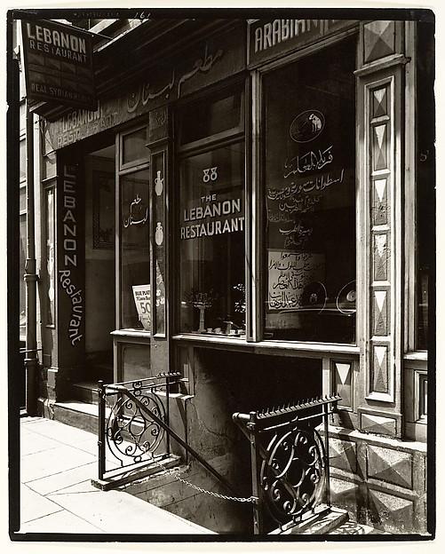 [Lebanon Restaurant, 88 Washington Street, Manhattan], Berenice Abbott (American, Springfield, Ohio 1898–1991 Monson, Maine), Gelatin silver print