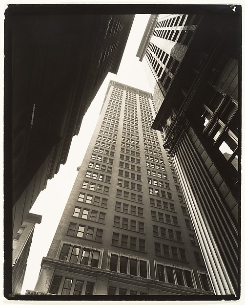 Canyon, Broadway and Exchange Place, Berenice Abbott (American, Springfield, Ohio 1898–1991 Monson, Maine), Gelatin silver print