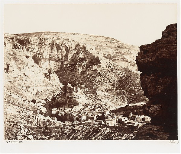 Vaucluse, Édouard Baldus (French, born Prussia, 1813–1889), Albumen silver print from glass negative?