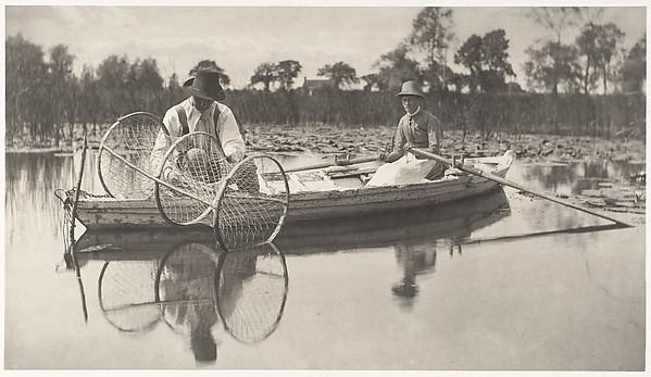 Setting the Bownet, Peter Henry Emerson (British, born Cuba, 1856–1936), Platinum print from glass negative
