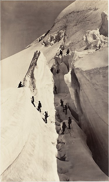[The Ascent of Mont Blanc], Auguste-Rosalie Bisson (French, 1826–1900), Albumen silver print from glass negative