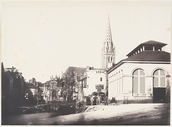 Poissonerie, Caen, Edmond Bacot (French, 1814–1875), Salted paper print from glass negative