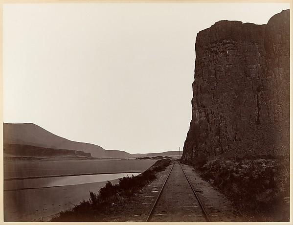 Cape Horn near Celilo, Carleton E. Watkins (American, 1829–1916), Albumen silver print from glass negative