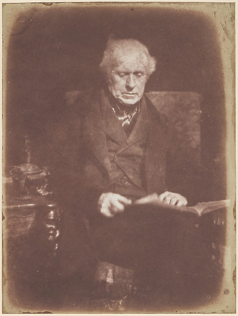Sir David Brewster, Hill and Adamson (British, active 1843–1848), Salted paper print from paper negative