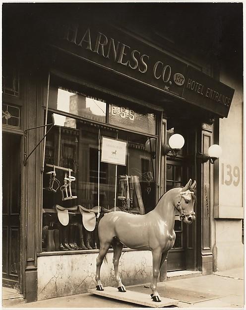 Harness Shop Horse, Berenice Abbott (American, Springfield, Ohio 1898–1991 Monson, Maine), Gelatin silver print