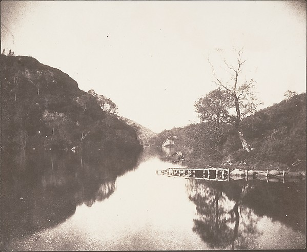 Loch Katrine Pier, Scene of the Lady of the Lake, William Henry Fox Talbot (British, Dorset 1800–1877 Lacock), Salted paper print from paper negative