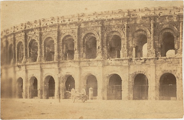 [Roman Theater at Nimes], Unknown (French), Albumen silver print from glass negative