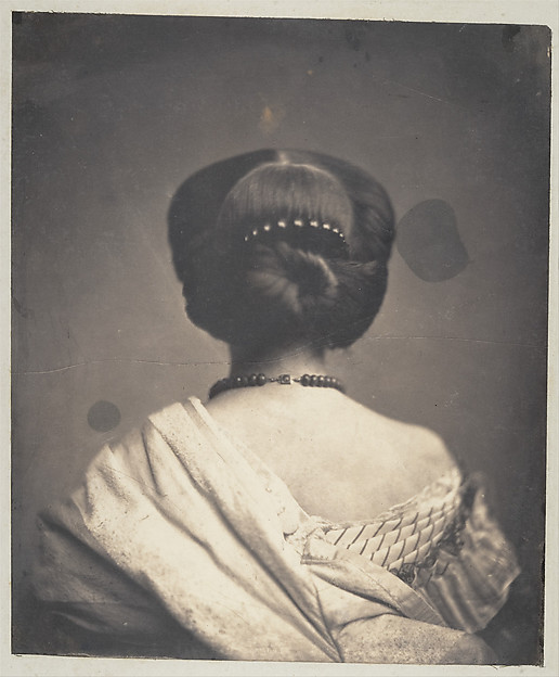 Onésipe Aguado de las Marismas.[Woman seen from the back]. ca. 1862. Salted paper print from glass negative