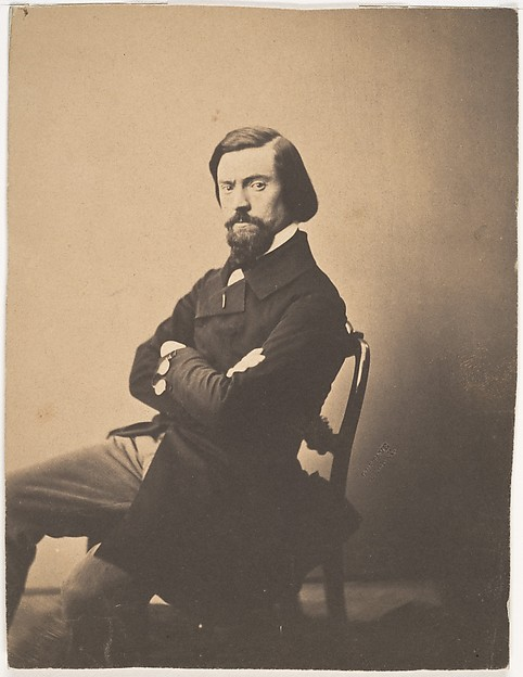 Portrait de Pitre-Chevalier, Gustave Le Gray (French, 1820–1884), Salted paper print from glass negative