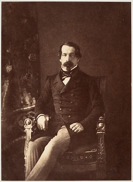Portrait de Louis-Napoléon Bonaparte en Prince-Président, Gustave Le Gray (French, 1820–1884), Albumen silver print from paper negative
