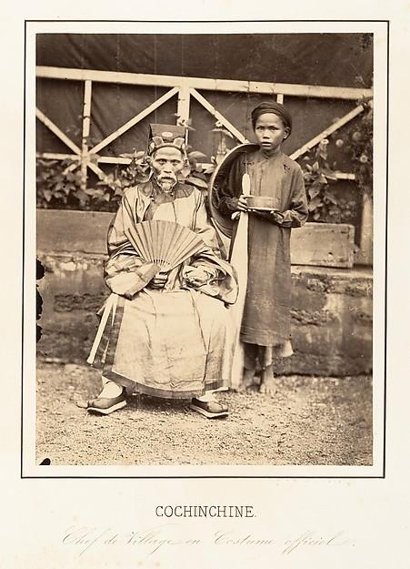 Chef de Village en Costume officiel, Cochinchine, Emile Gsell (French, Sainte-Marie-aux-Mines 1838–1879 Vietnam), Albumen silver print from glass negative