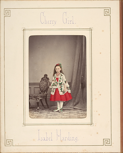 [Follett Family Album of Children Costumed for a Fancy Dress Ball], Owen Angel (British, ca. 1821–1909), Albumen silver prints from glass negatives with applied color