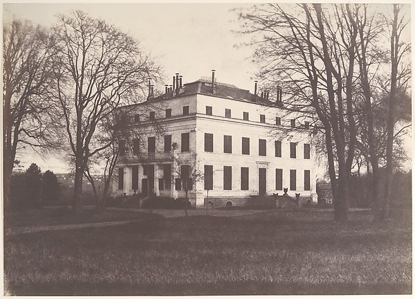 Château of Princess Mathilde, Enghien, Édouard Baldus (French, born Prussia, 1813–1889), Salted paper print from paper negative
