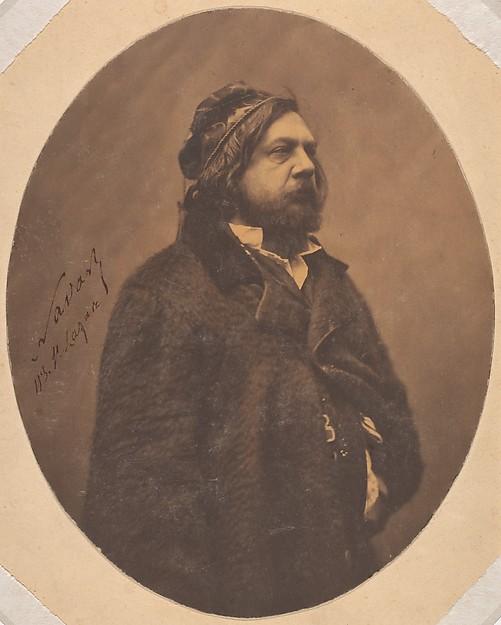 Théophile Gautier, Nadar (French, Paris 1820–1910 Paris), Salted paper print from glass negative