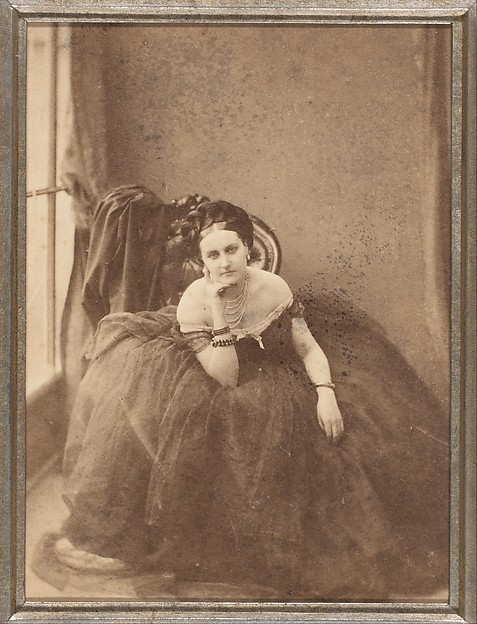 The Gaze, Pierre-Louis Pierson (French, 1822–1913), Albumen silver print from glass negative