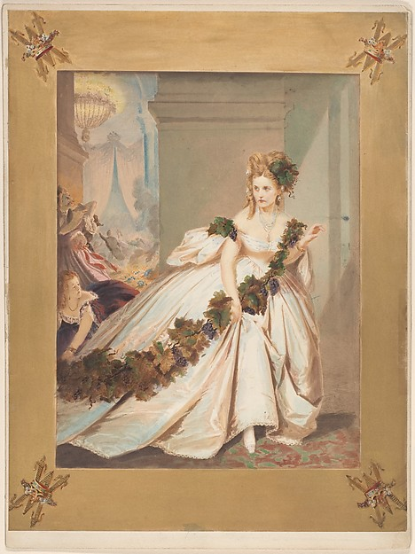 La Frayeur, Pierre-Louis Pierson (French, 1822–1913), Salted paper print from glass negative with applied color