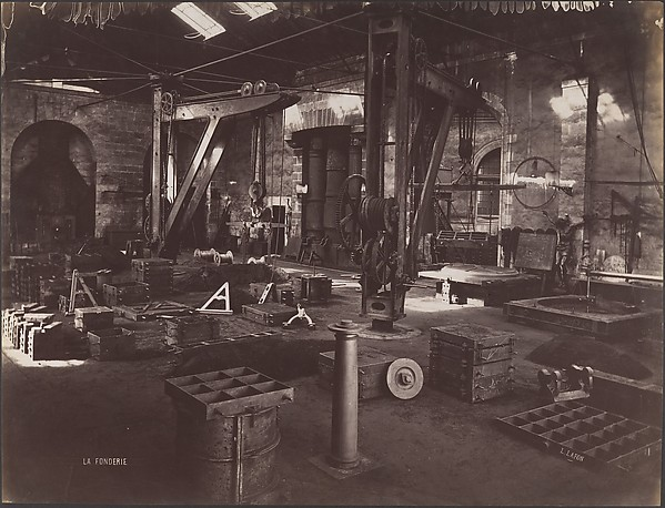 The Foundry, Louis Lafon (French, active 1870s–90s), Albumen silver print from glass negative