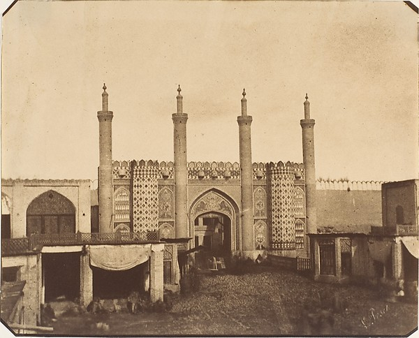 [The New Gate, Teheran], Luigi Pesce (Italian, 1818–1891), Albumen silver print from paper negative