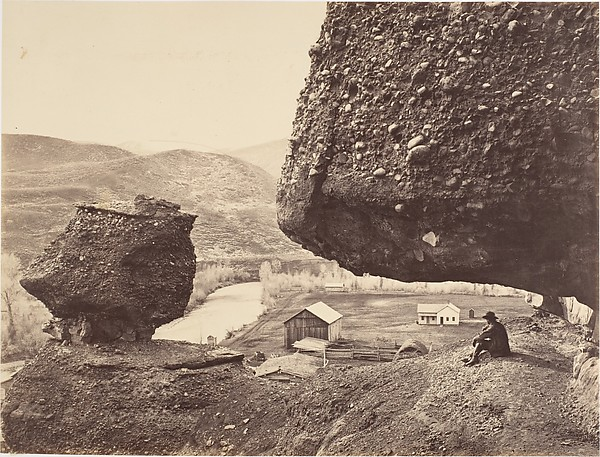 Hanging Rock, Foot of Echo Cañon, Andrew Joseph Russell (American, 1830–1902), Albumen silver print from glass negative