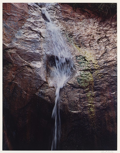 Waterfall with Reflection, Davis Gulch, Escalante River, Lake Powell, Utah, Eliot Porter (American, 1901–1990), Dye transfer print