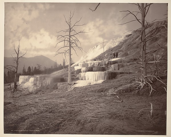 Mammoth Hot Springs, Pulpit Terraces, William Henry Jackson (American, 1843–1942), Albumen silver print from glass negative