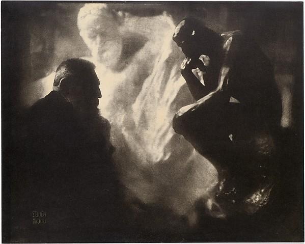 Rodin—The Thinker, Edward J. Steichen (American (born Luxembourg), Bivange 1879–1973 West Redding, Connecticut), Gum bichromate print
