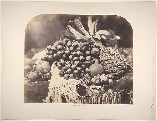 [Still Life with Fruit], Roger Fenton (British, 1819–1869), Albumen silver print from glass negative