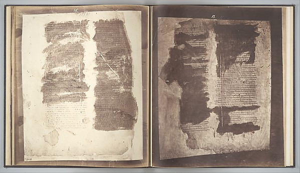 Photographic Facsimiles of the Remains of the Epistles of Clement of Rome.  Made from the Unique Copy Preserved in the Codex Alexandrinus., Roger Fenton (British, 1819–1869), Salted paper prints from glass negatives