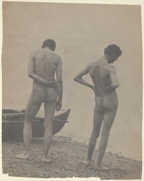 [Thomas Eakins and John Laurie Wallace on a Beach], Thomas Eakins (American, Philadelphia, Pennsylvania 1844–1916 Philadelphia, Pennsylvania), Platinum print