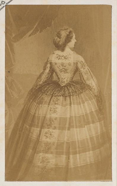 La taille, André-Adolphe-Eugène Disdéri (French, Paris 1819–1889 Paris), Albumen silver print from glass negative
