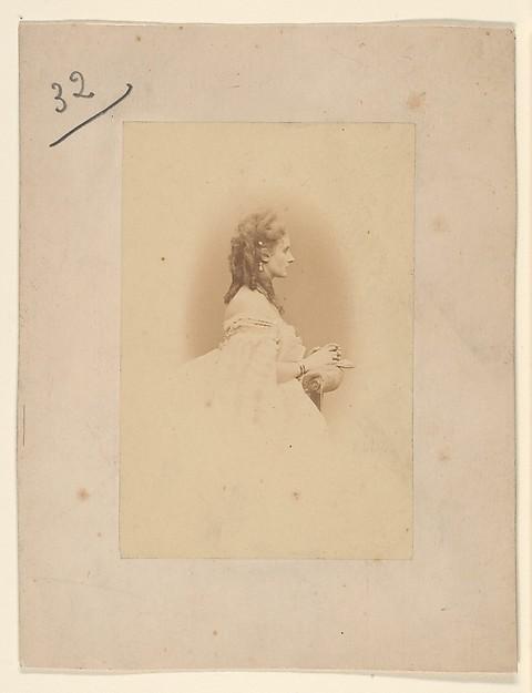 Priére, Pierre-Louis Pierson (French, 1822–1913), Albumen silver print from glass negative