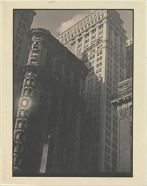 [Office Buildings from Below, New York], Paul Strand (American, New York 1890–1976 Orgeval, France), Platinum print