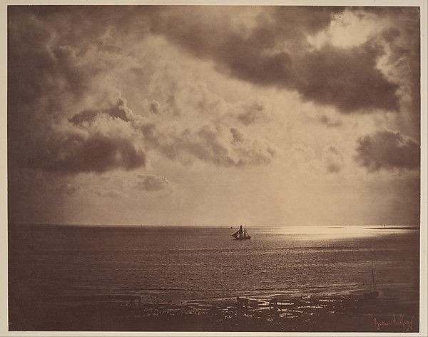 Brig on the Water, Gustave Le Gray (French, 1820–1884), Albumen silver print from glass negative